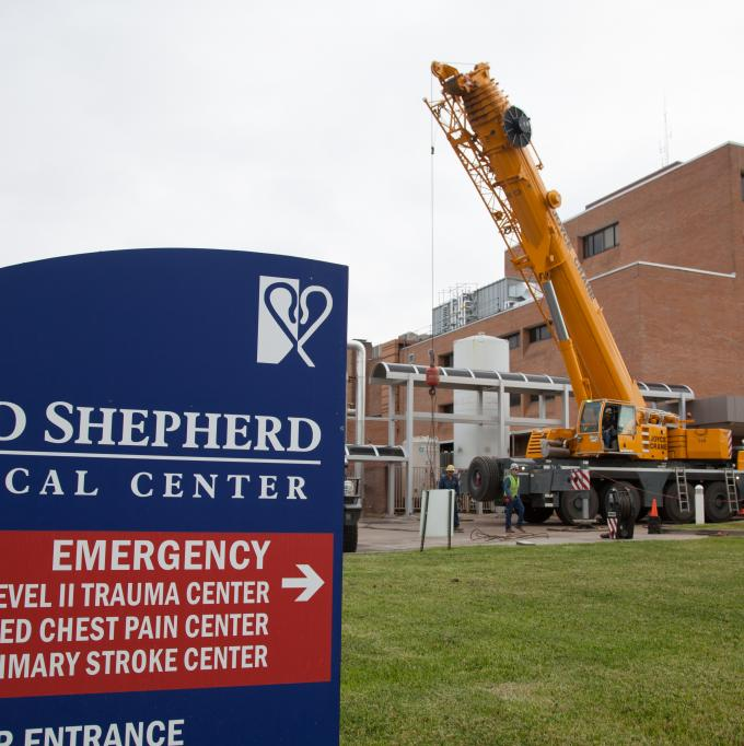 Prepping for a lift at Good Shepherd Medical Center in Longview, TX.