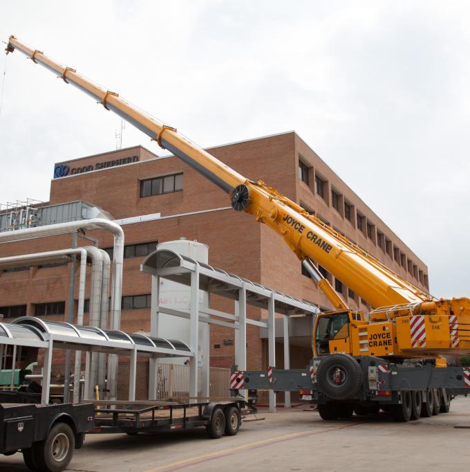 Replacing an old HVAC system at Good Shepherd Medical Center in Longview, TX.