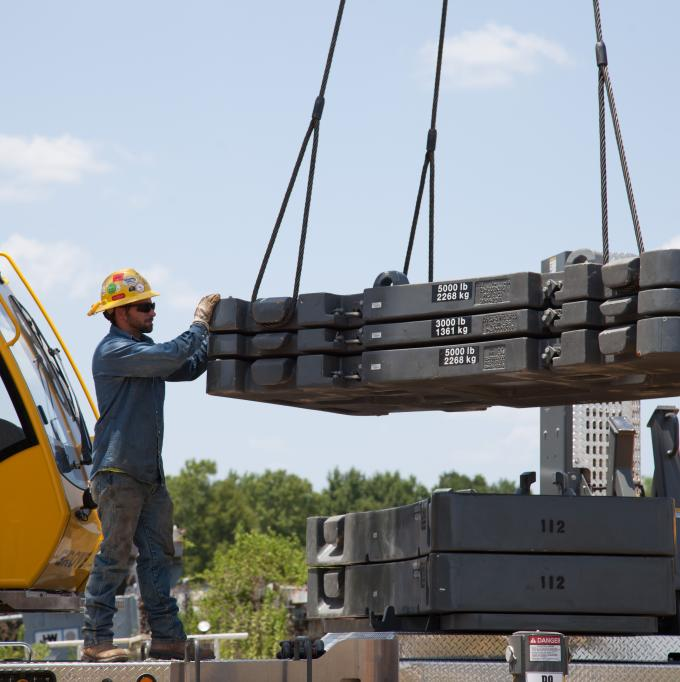 Prepping for a lift at J-W Power Co. in Longview, TX.